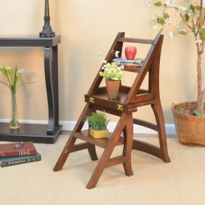 library chair ladder williams sonoma chairs carolina cottage chestnut wood folding 1617 nc the 4