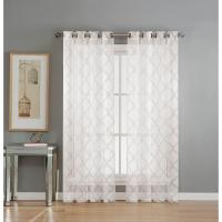 Window Elements Sheer Lattice Cotton Blend Burnout Sheer ...