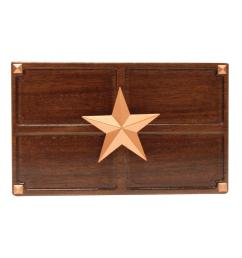 wireless or wired door bell medium oak wood with texas star sc 1 st the home depot [ 1000 x 1000 Pixel ]