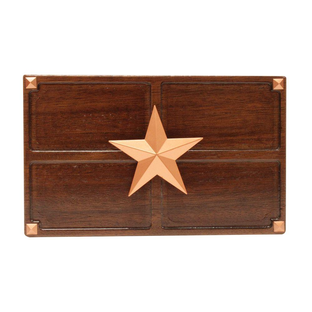hight resolution of wireless or wired door bell medium oak wood with texas star sc 1 st the home depot