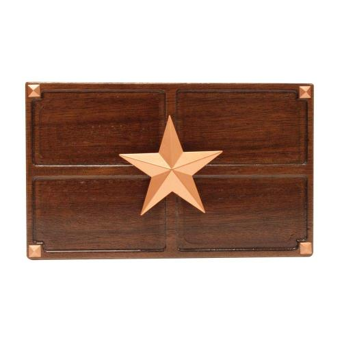 small resolution of wireless or wired door bell medium oak wood with texas star sc 1 st the home depot