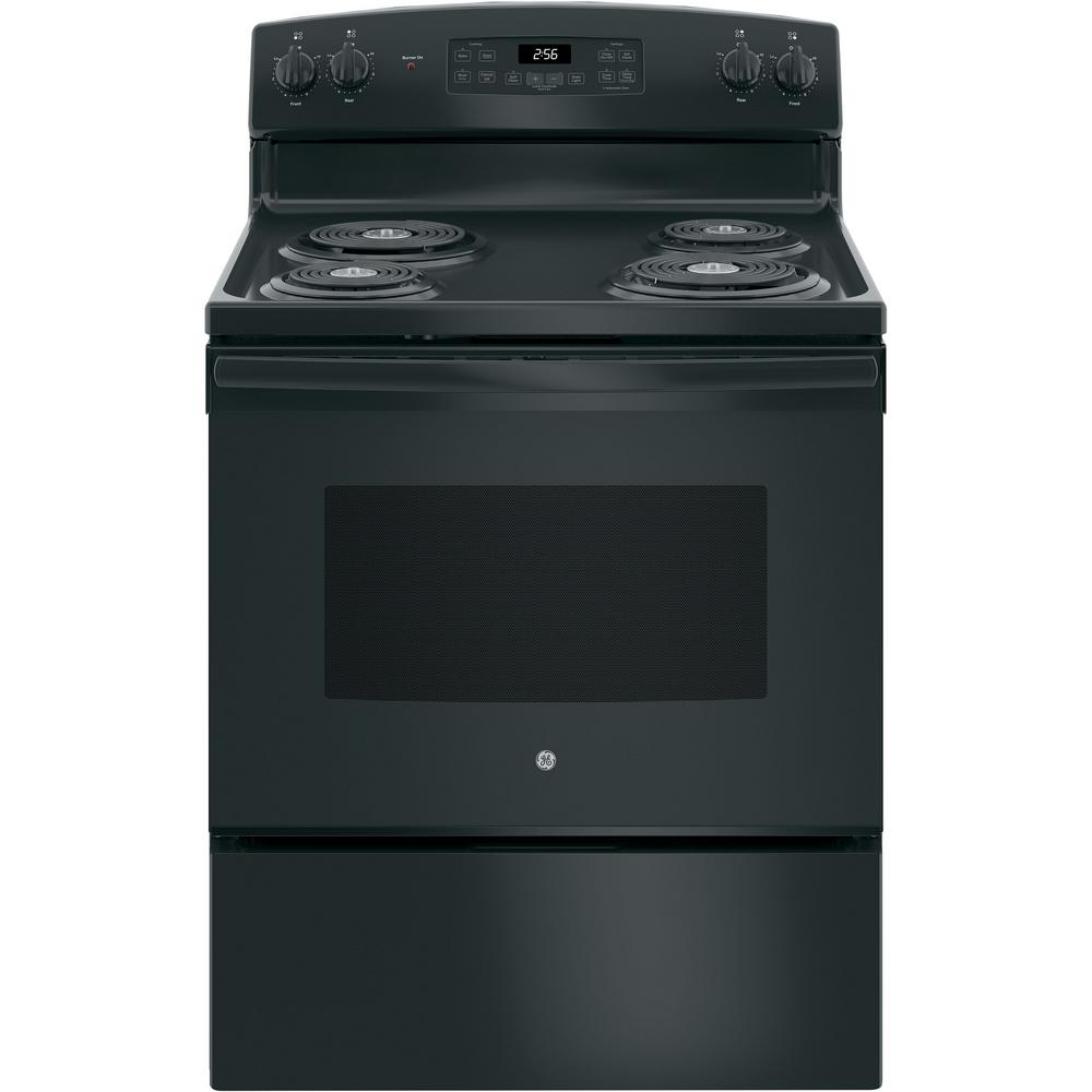 medium resolution of ge 30 in 5 0 cu ft electric range with self cleaning oven