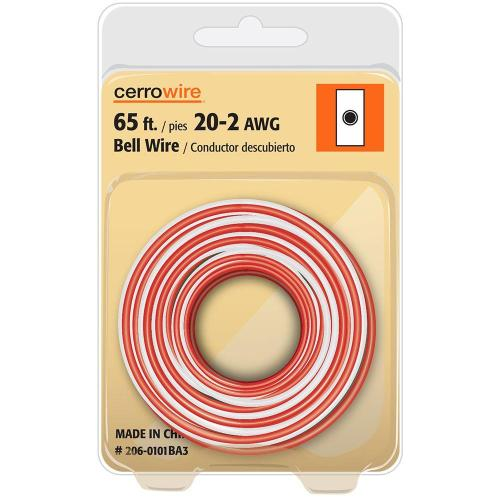 small resolution of cerrowire 65 ft 20 2 solid bell wire 206 0101ba3 the home depot rh homedepot com doorbell wiring 2 doorbell wiring 2
