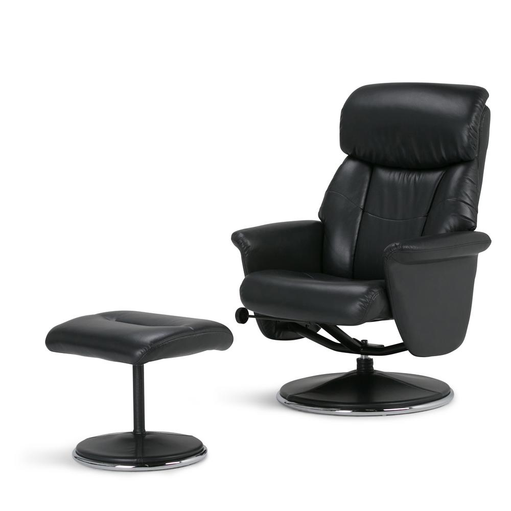 euro recliner chair quatropi hanging review simpli home carson black air leather set of 1