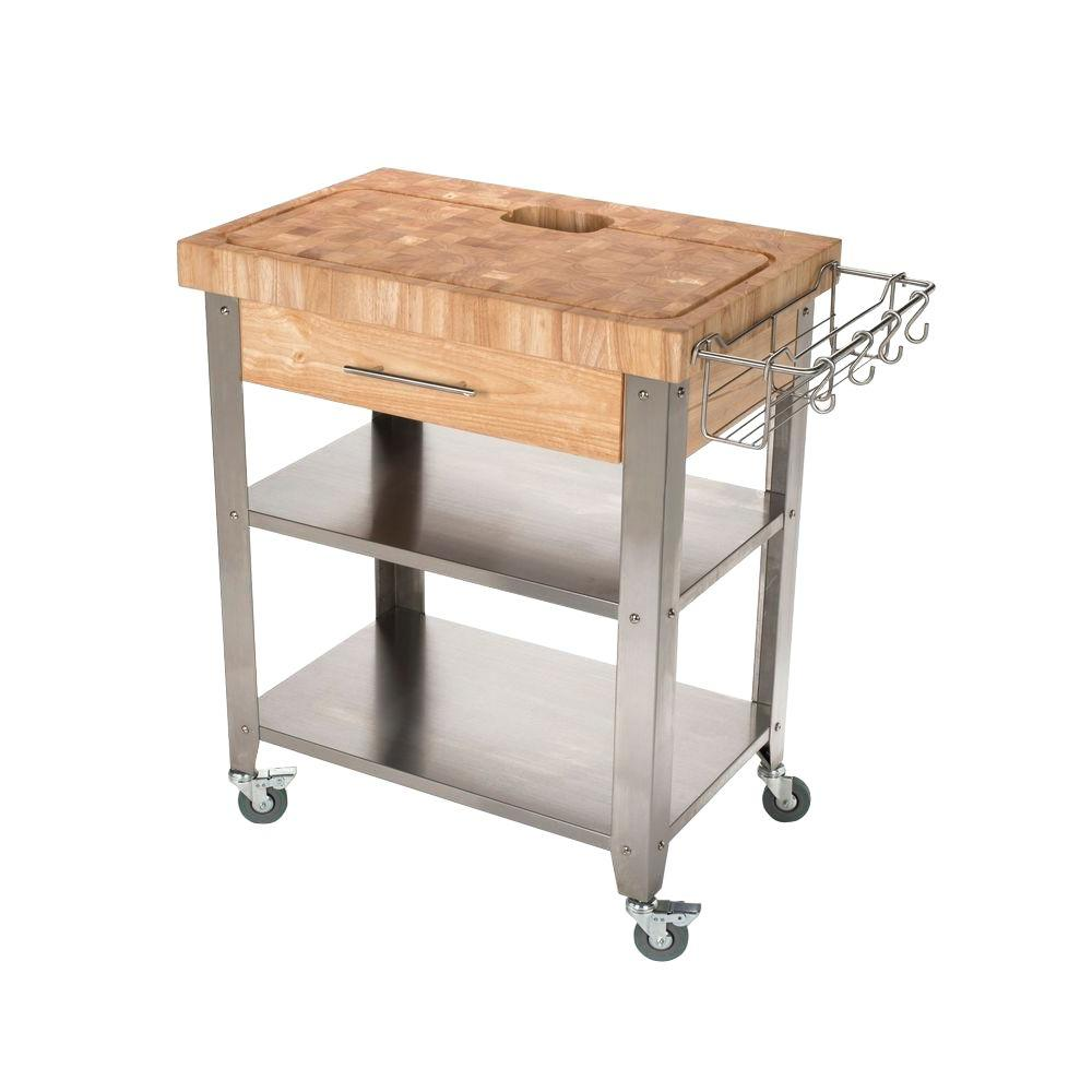 stainless steel kitchen cart tvs chris pro stadium with chop drop system
