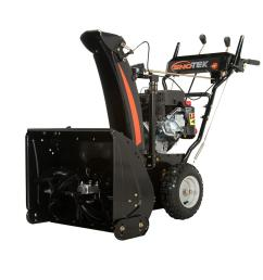 sno tek 24 in 2 stage electric start gas snow blower [ 1000 x 1000 Pixel ]