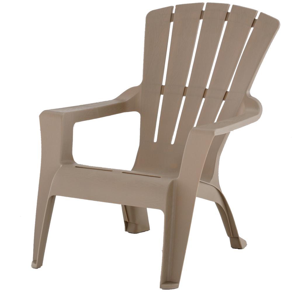 Mushroom Resin Plastic Adirondack Chair240855  The Home