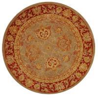 Safavieh Anatolia Grey/Red 4 ft. x 4 ft. Round Area Rug ...