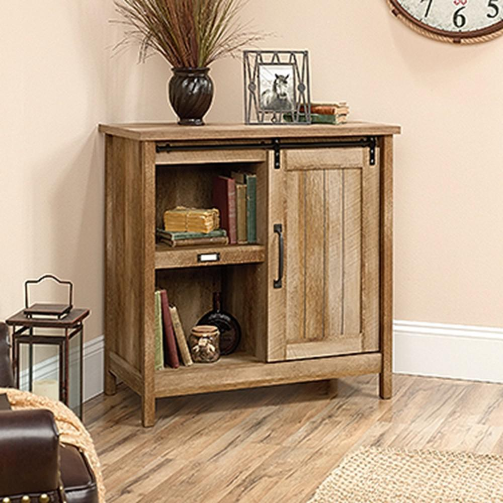 SAUDER Adept Craftsman Oak Accent Storage Cabinet with Sliding Door422473  The Home Depot