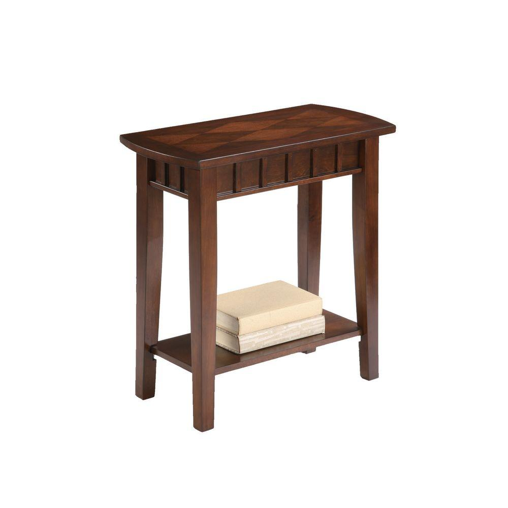 living room end tables candice olson ore international brown table 7203 the home depot