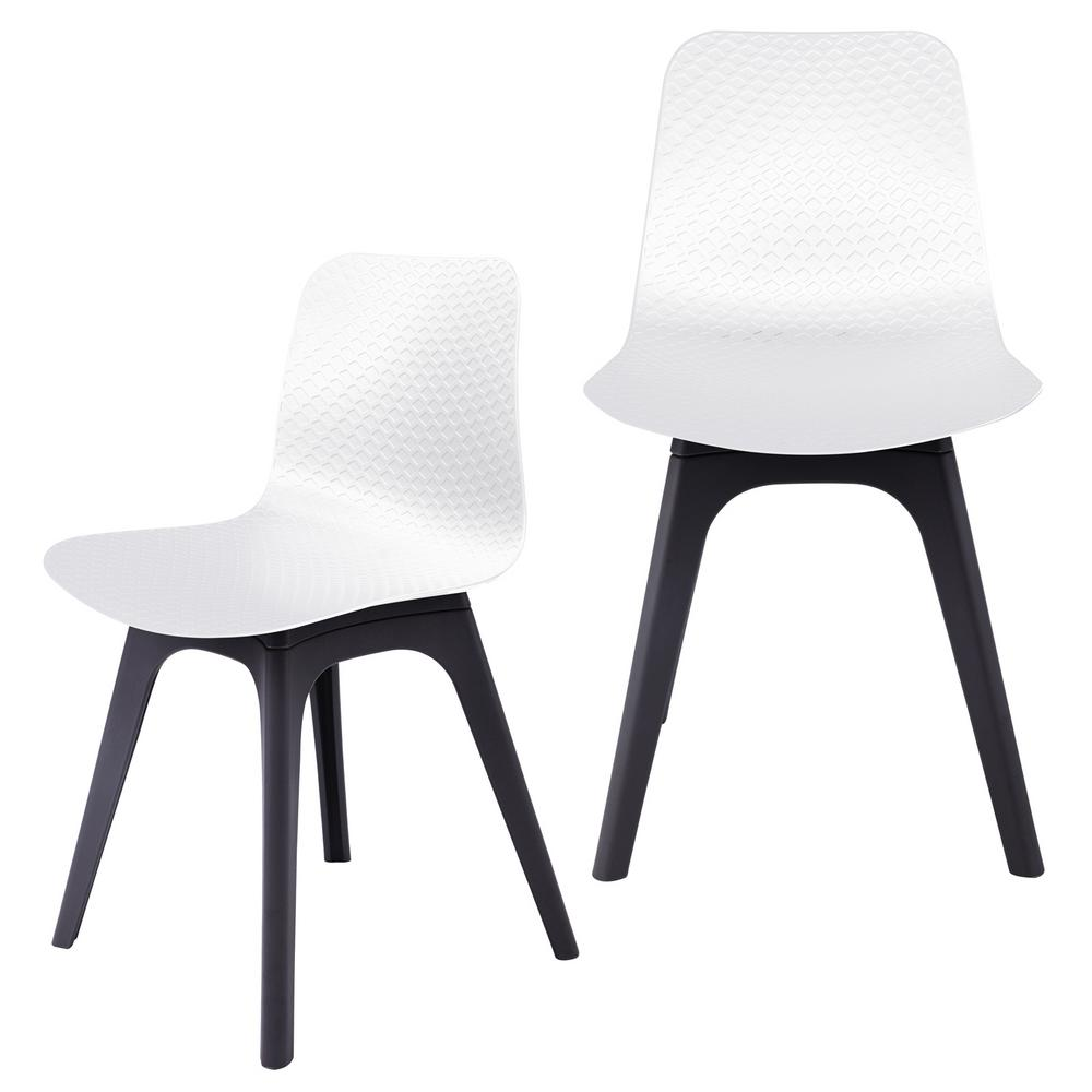 black side chair desk lower back support cozyblock hebe series white dining shell molded plastic with modern legs set of 2 6 whi the home depot
