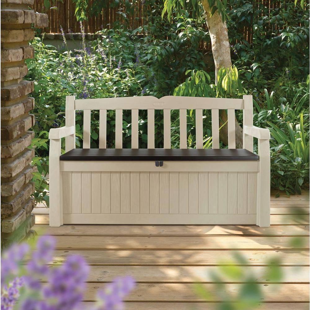 outdoor patio bench seat storage deck