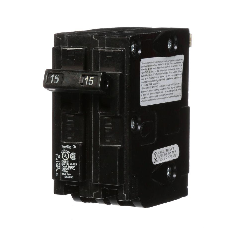 medium resolution of square d homeline 15 amp 2 pole circuit breaker hom215cp the home depot