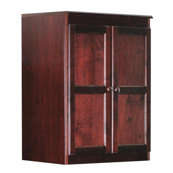 Concepts In Wood Wood Kitchen Pantry Cabinet 36 In With 2 Shelves Cherry Finish Kt613c 3036 C The Home Depot