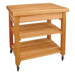 Large Kitchen Cart Commercial Trash Can Catskill Craftsmen French Country Natural With Storage