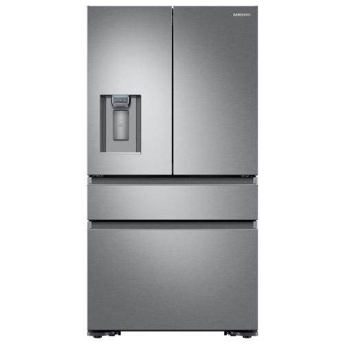 small resolution of samsung 22 6 cu ft 4 door french door refrigerator with recessed handle in stainless steel counter depth