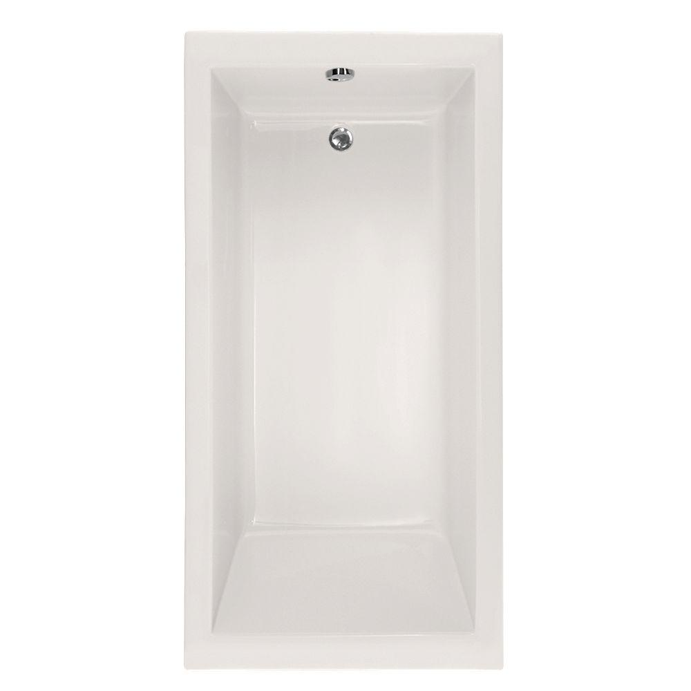 Hydro Systems Studio Lacey 5 Ft Air Bath Tub With Reversible Drain In White CLAC6032ATAW The