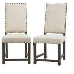 Beige Dining Chairs Single Chair Hammock Stand Kitchen Room Furniture The Home Depot Andrew Antique Walnut