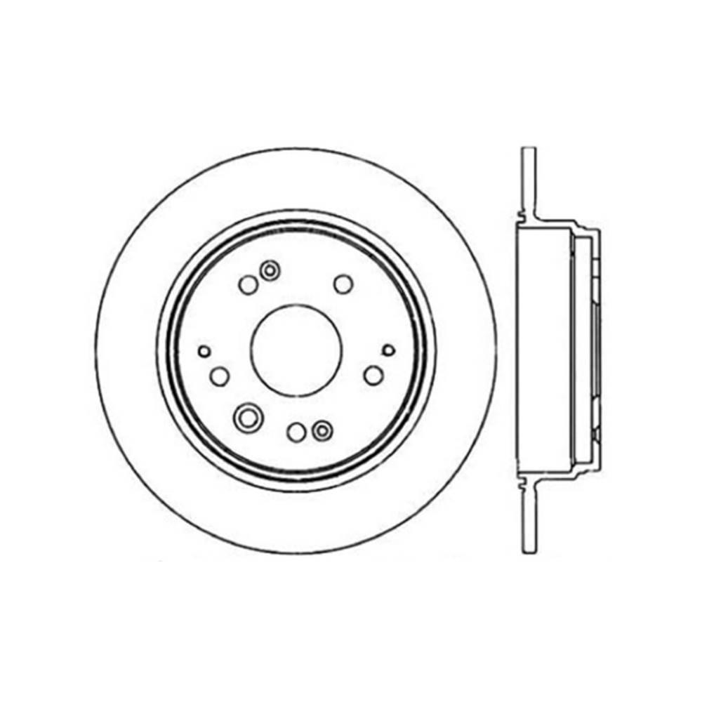 Centric Parts Disc Brake Rotor 1999-2003 Acura TL-121
