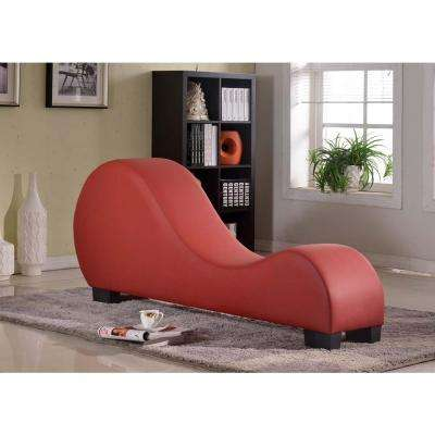 chaise chairs for living room diy floating shelves lounge furniture the home depot red faux leather
