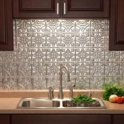 Tin Kitchen Backsplash Sinks For Kitchens Sheets Hobit Fullring Co Fasade 24 In X 18 Traditional 1 Pvc Decorative Panel