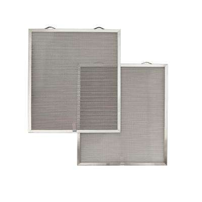 kitchen filter custom cabinets online range hood parts appliance the home depot replacement open mesh aluminum grease filters d1 for 36 in avsf1 hoods