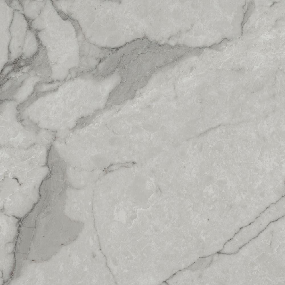 TrafficMASTER Grey Marble 12 in x 12 in Vinyl Tile