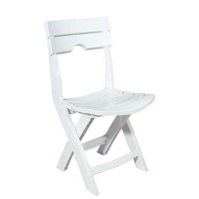 high outdoor folding chairs rv furniture captains standard dining height patio quik fold white resin plastic lawn chair