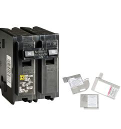 square d homeline 30 amp 2 pole circuit breaker bundle with 150 225 amp [ 1000 x 1000 Pixel ]