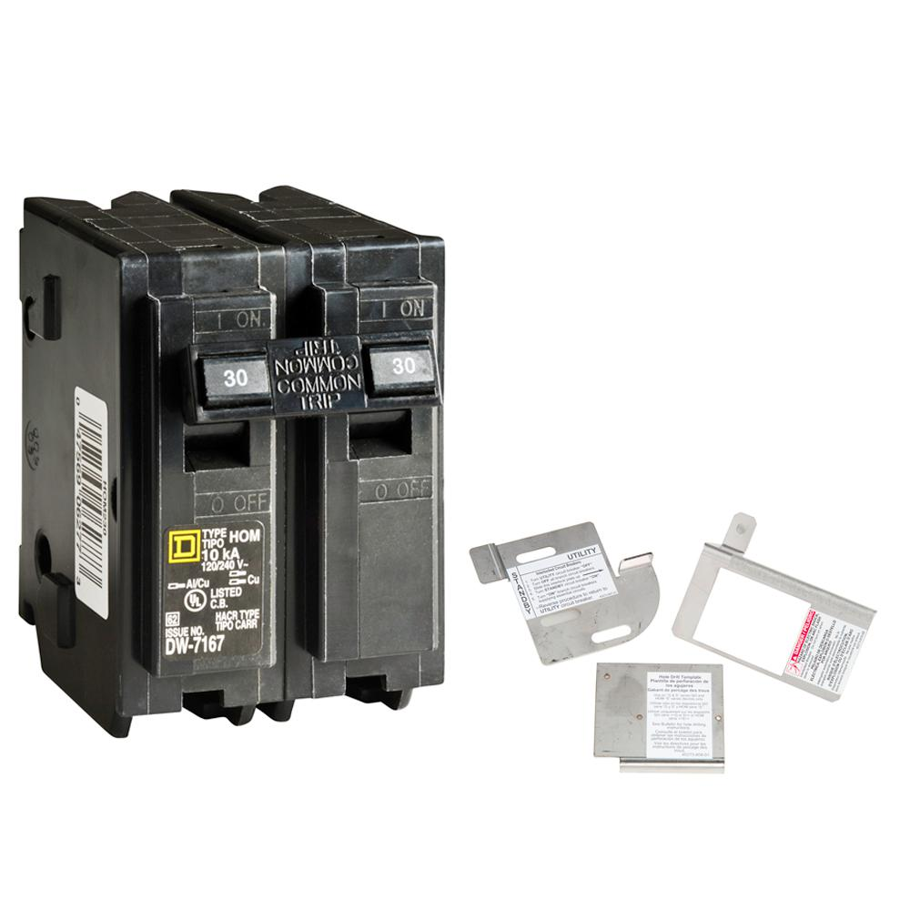 medium resolution of square d homeline 30 amp 2 pole circuit breaker bundle with 150 225 amp