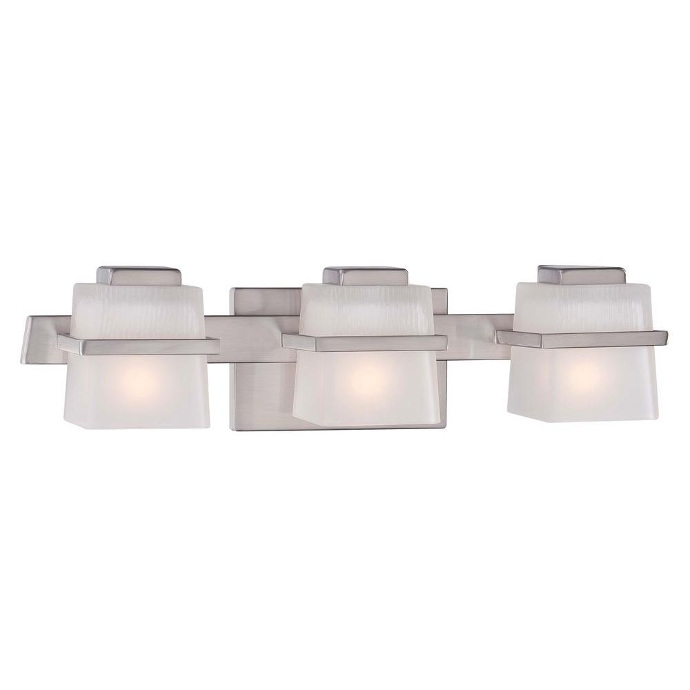 hight resolution of hampton bay harlin hills 3 light brushed nickel vanity light with etched glass shades