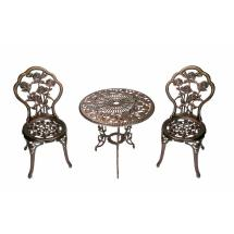 Oakland Living Rose 3-piece Patio Bistro Table Set-3705-ab