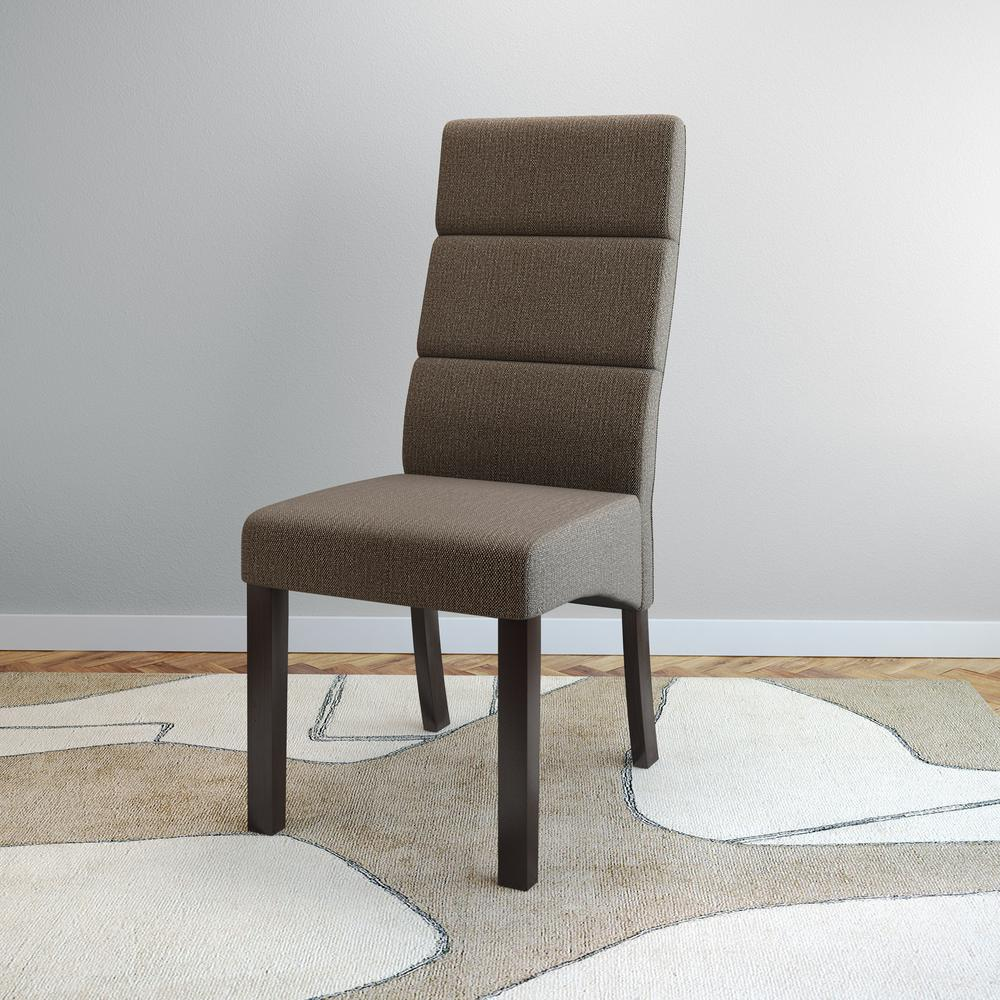 tall back chairs leather office club corliving antonio brown upholstery dining set of 2