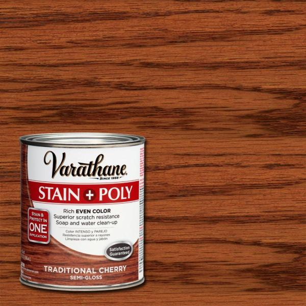 Varathane 1-qt. Traditional Cherry Stain And Polyurethane 2-pack -266164 - Home Depot