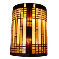 Amora Lighting 2-Light Tiffany Style Geometric Wall Sconce ...