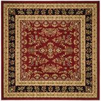 Safavieh Lyndhurst Red/Black 6 ft. x 6 ft. Square Area Rug ...