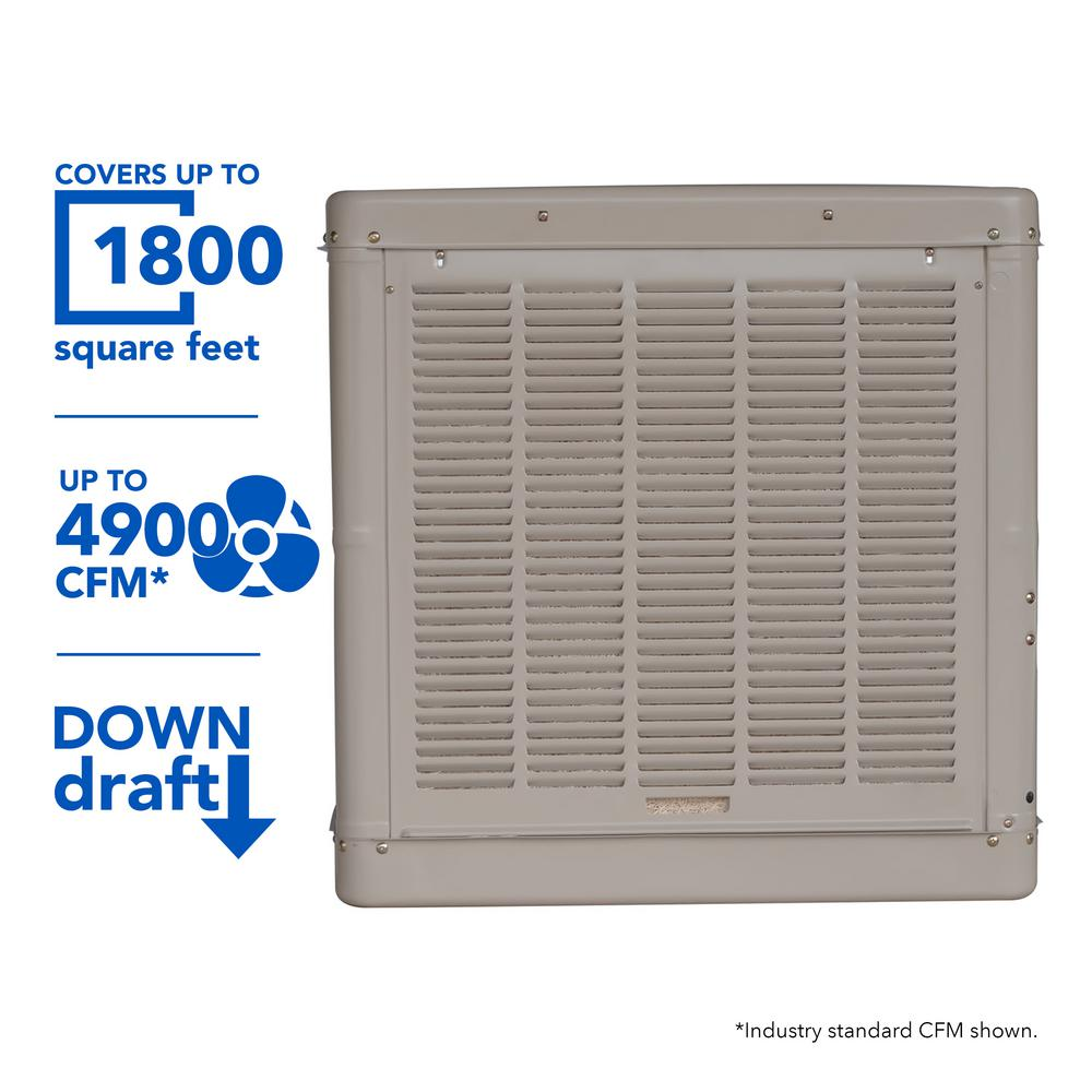 hight resolution of champion cooler 4900 cfm down draft roof evaporative cooler for 1800 sq ft