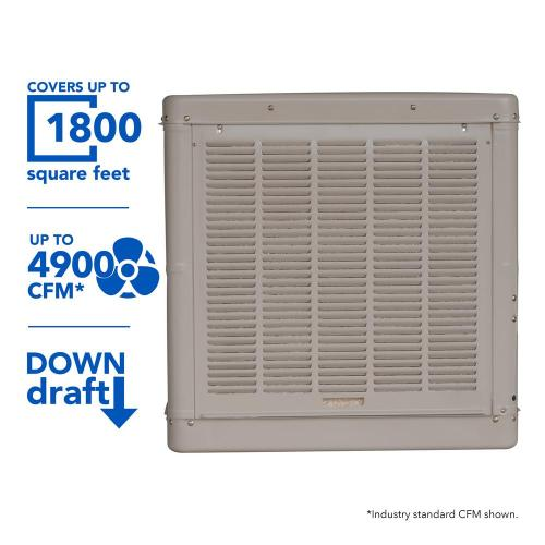 small resolution of champion cooler 4900 cfm down draft roof evaporative cooler for 1800 sq ft
