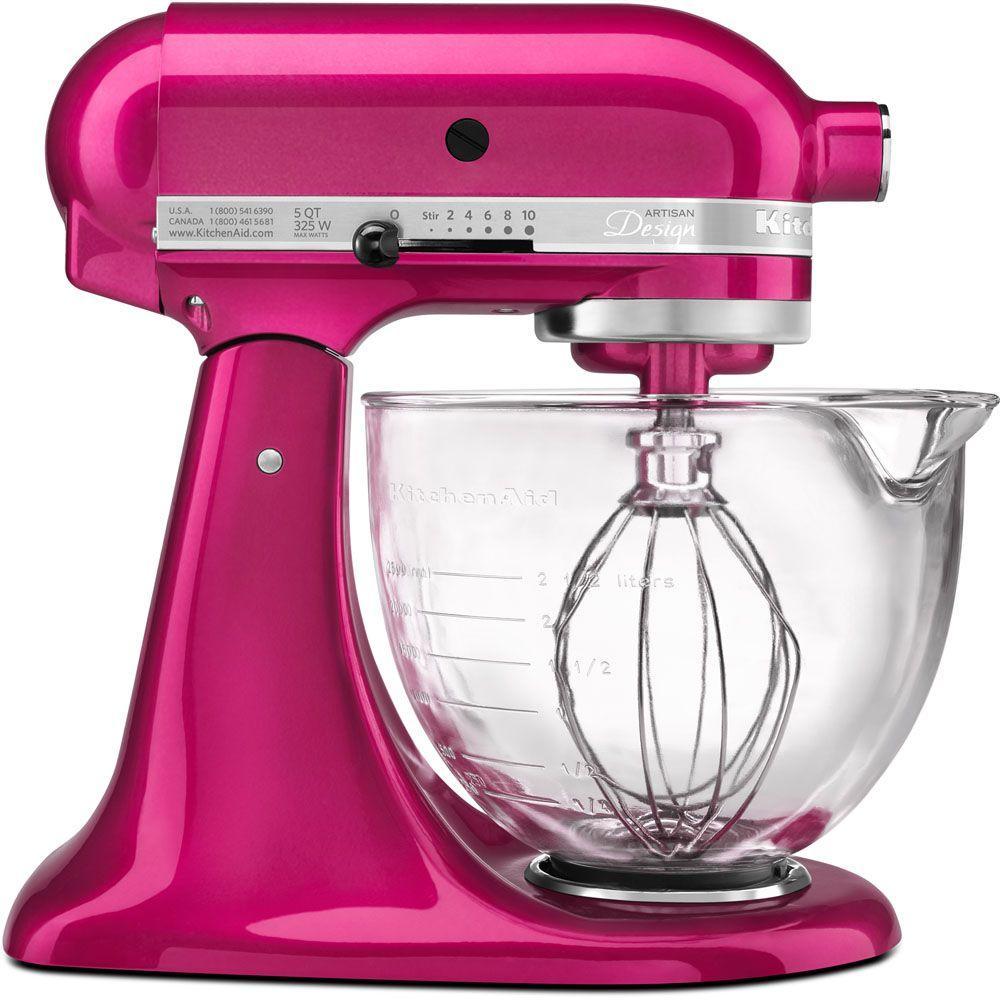 kitchen mixer moen kitchenaid artisan designer 5 qt raspberry ice stand