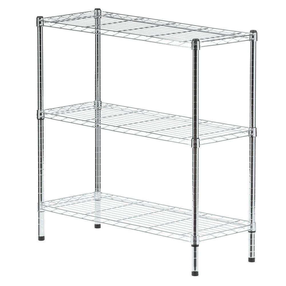 HDX 37 in. H x 36 in. W x 14 in. D 3 Shelf Wire Unit in