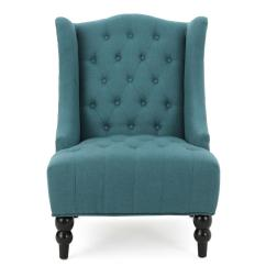 Dark Teal Accent Chair Disney Princess Noble House Toddman Fabric High Back 299588