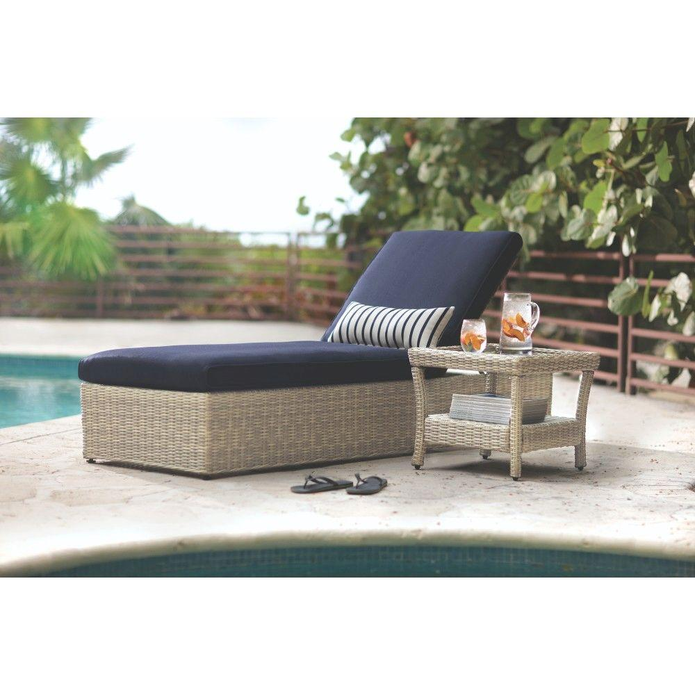 Home Decorators Collection Naples Light Grey Patio Chaise