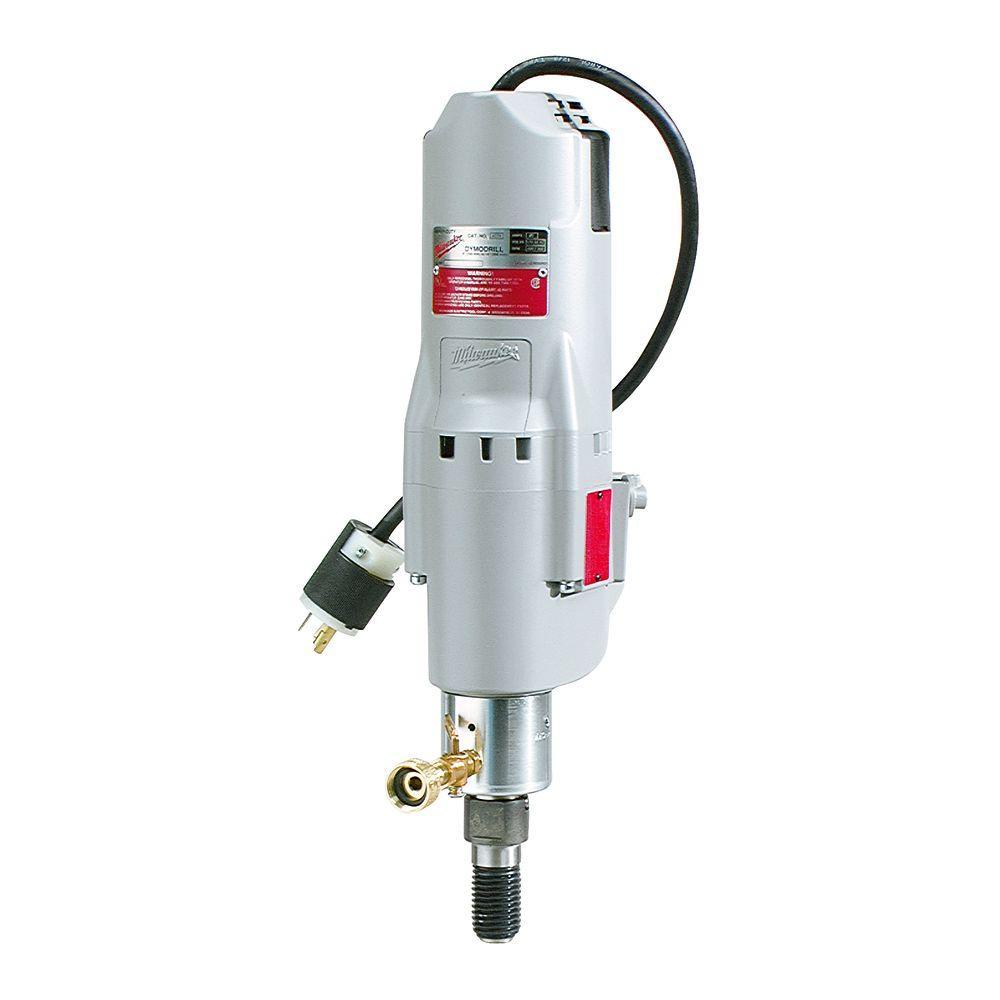 medium resolution of milwaukee 20 amp 300 600 rpm diamond coring drill with shear pin