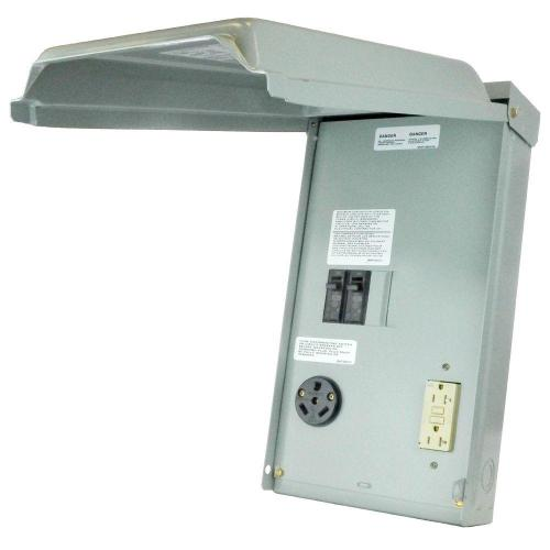 small resolution of 100 amp 2 space 2 circuit 240 volt unmetered rv outlet box with