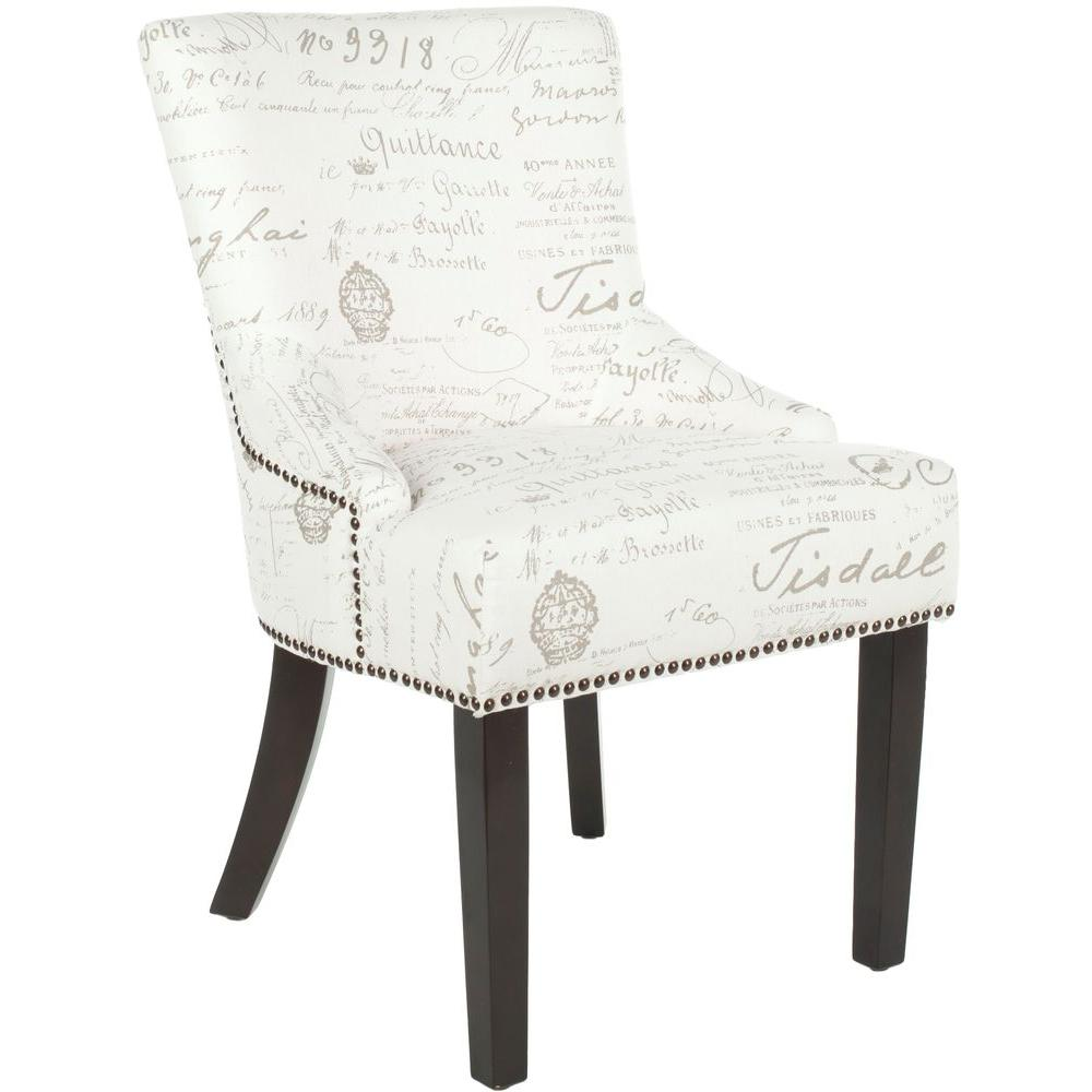 Eggshell Chair Safavieh Lotus Eggshell Espresso Cotton Linen Side Chair Set Of 2