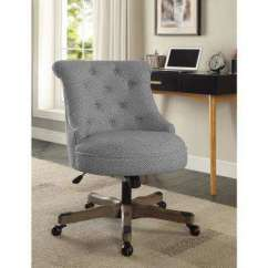 Desk Chairs On Wheels Propane Fire Pit Table And Rustic Chair Office Home Furniture Sinclair Light Gray White Dots Upholstered Fabric With Wood Base