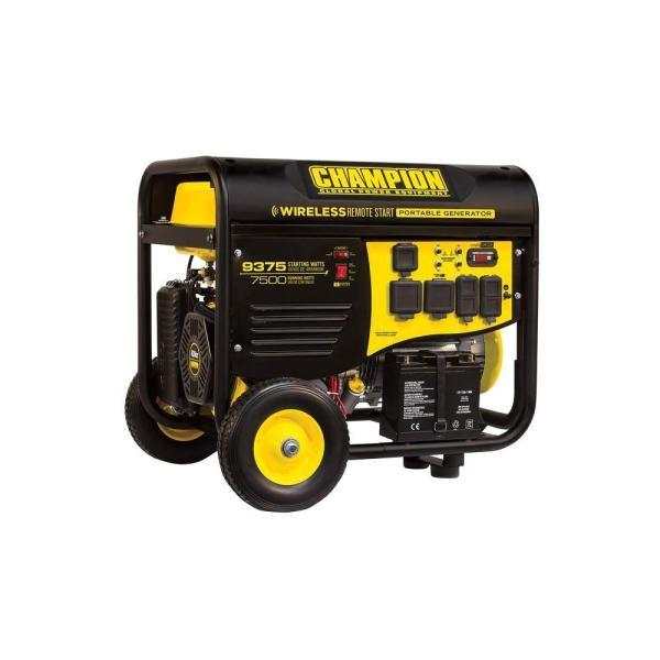 Champion Power Equipment 7 500-watt Gasoline Powered Wireless Remote Start Portable Generator