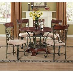 2 Chair Dining Set With Leg Rest India Acme Furniture Omari Bronze Metal Of 70103m
