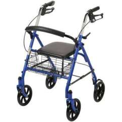 Walker Roller Chair Zero Gravity Lawn Chairs Canada Walkers Mobility Aids The Home Depot 4 Wheel Rollator With Fold Up Removable Back Support In Blue