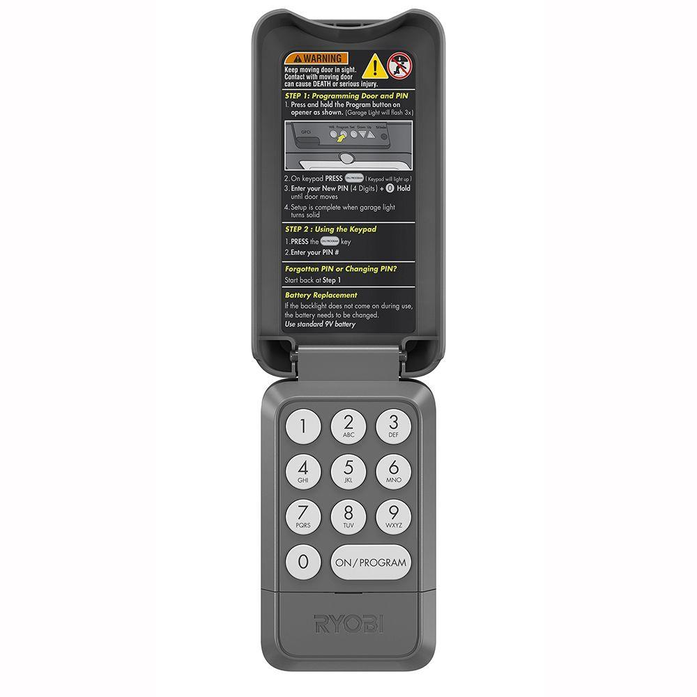 medium resolution of ryobi garage door outdoor wireless keypad